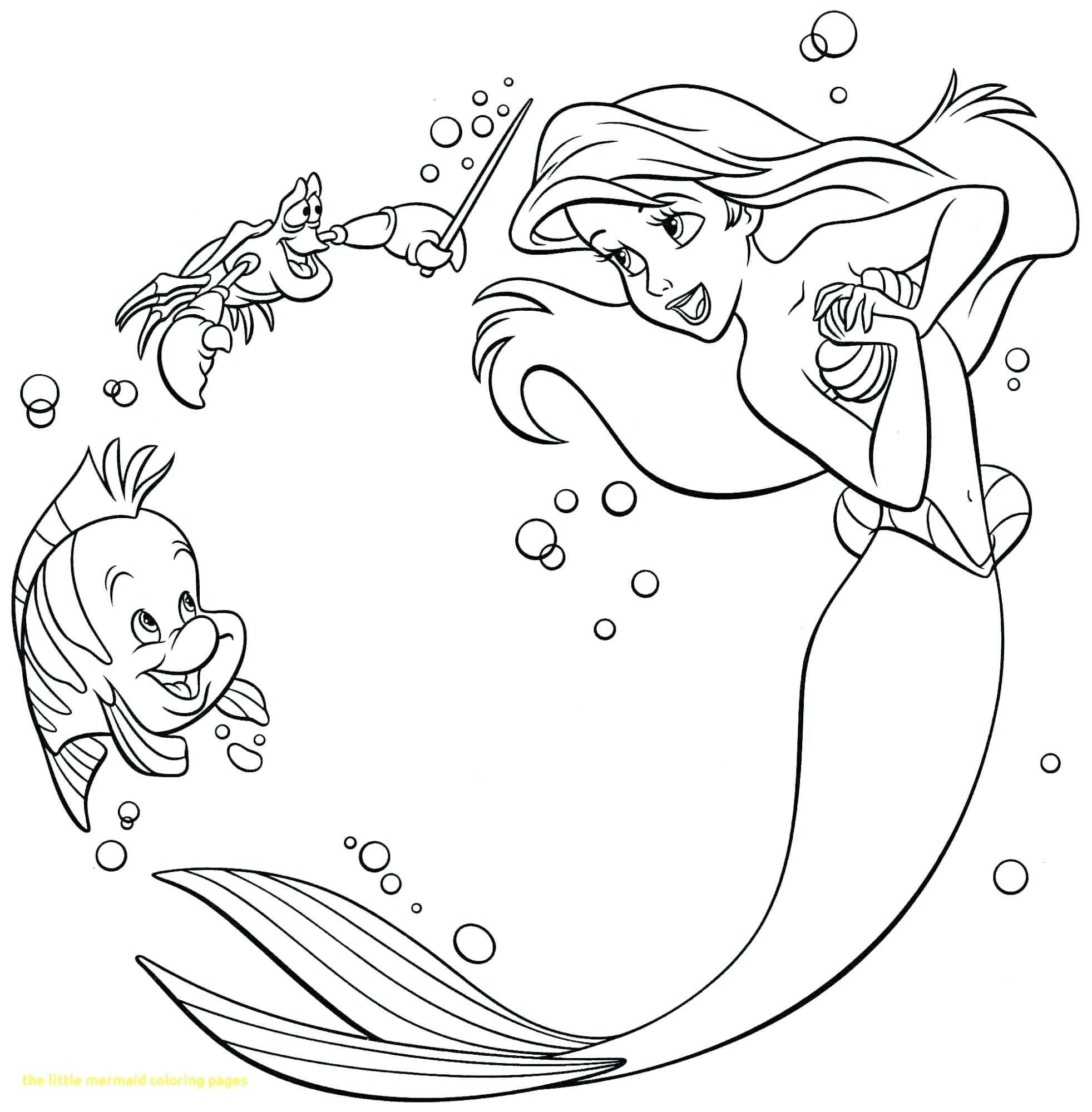 1963x2000 Walt Disney Coloring Pages Flounder Sebastian Princess Ariel