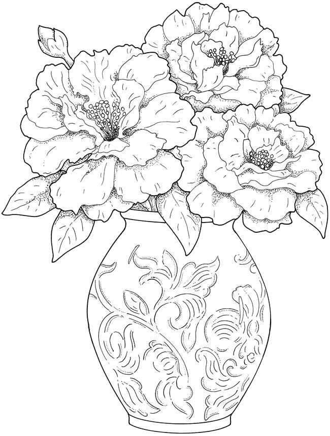 650x860 Flower Arrangement Coloring Pages Best Of Dover Publications