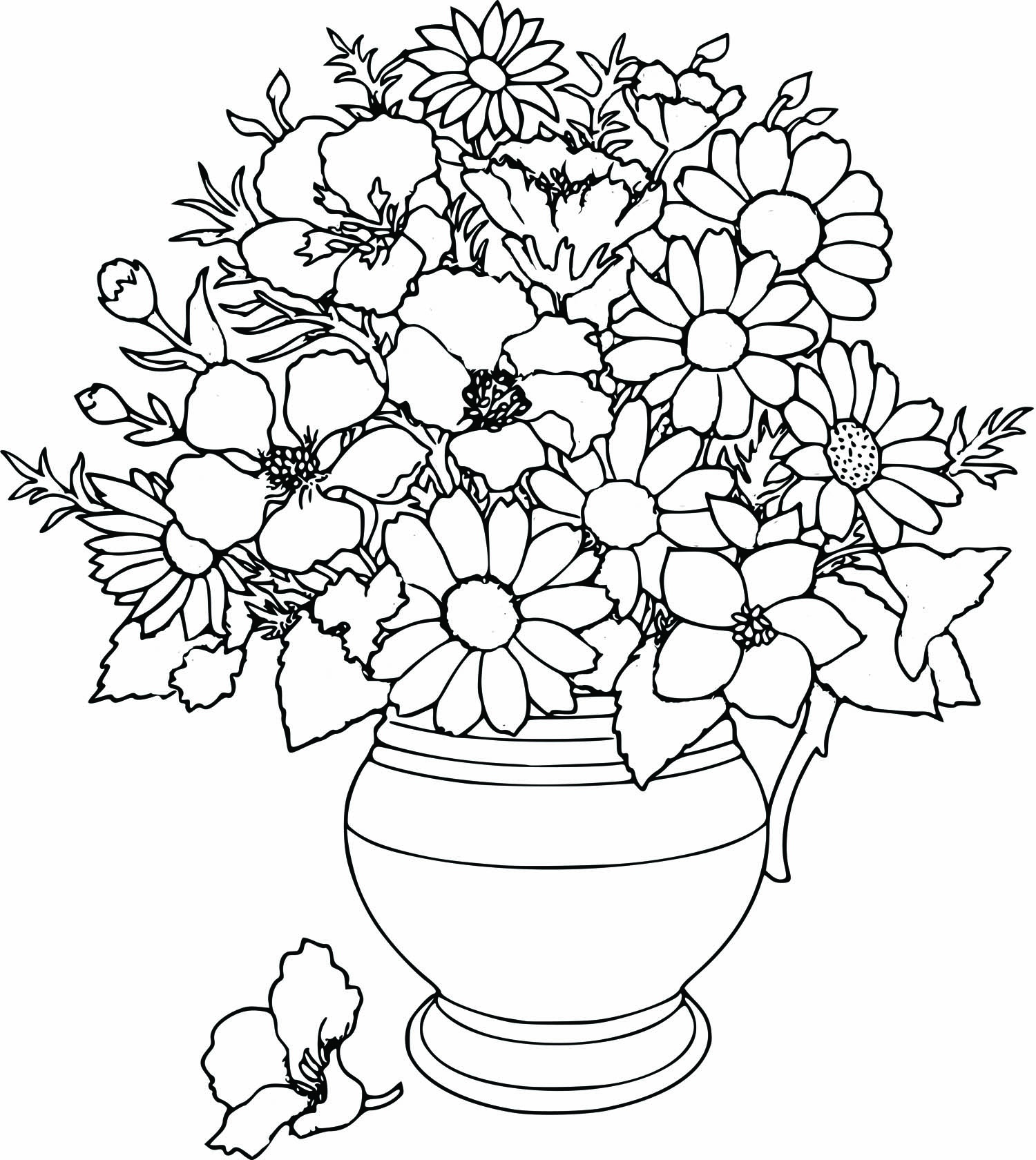 1500x1680 Flower Arrangement Coloring Pages Elegant Mothers Day Flowers