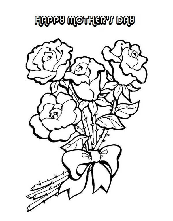 600x766 Flower Arrangement For Mom On Mothers Day Coloring Page Batch