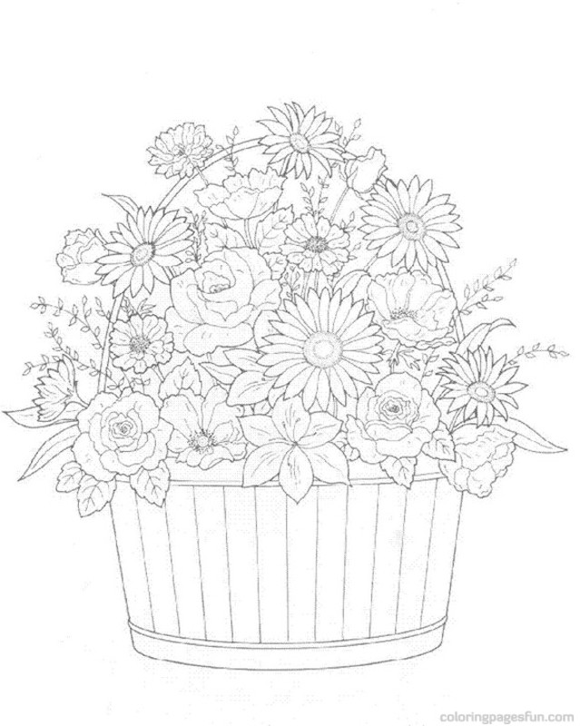 639x800 Flower Bouquets Coloring Pages Coloring Pages