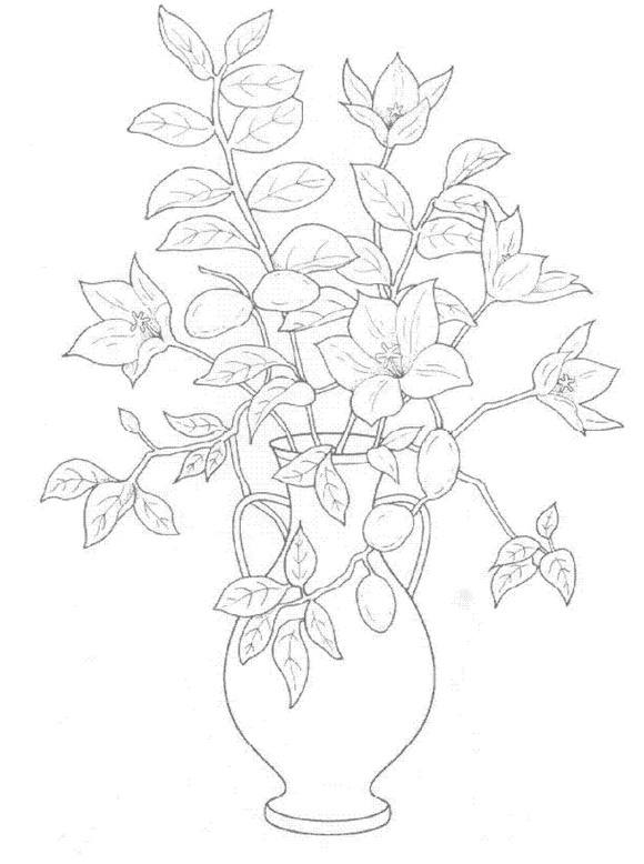 580x778 Kids N Coloring Pages Of Bouquets