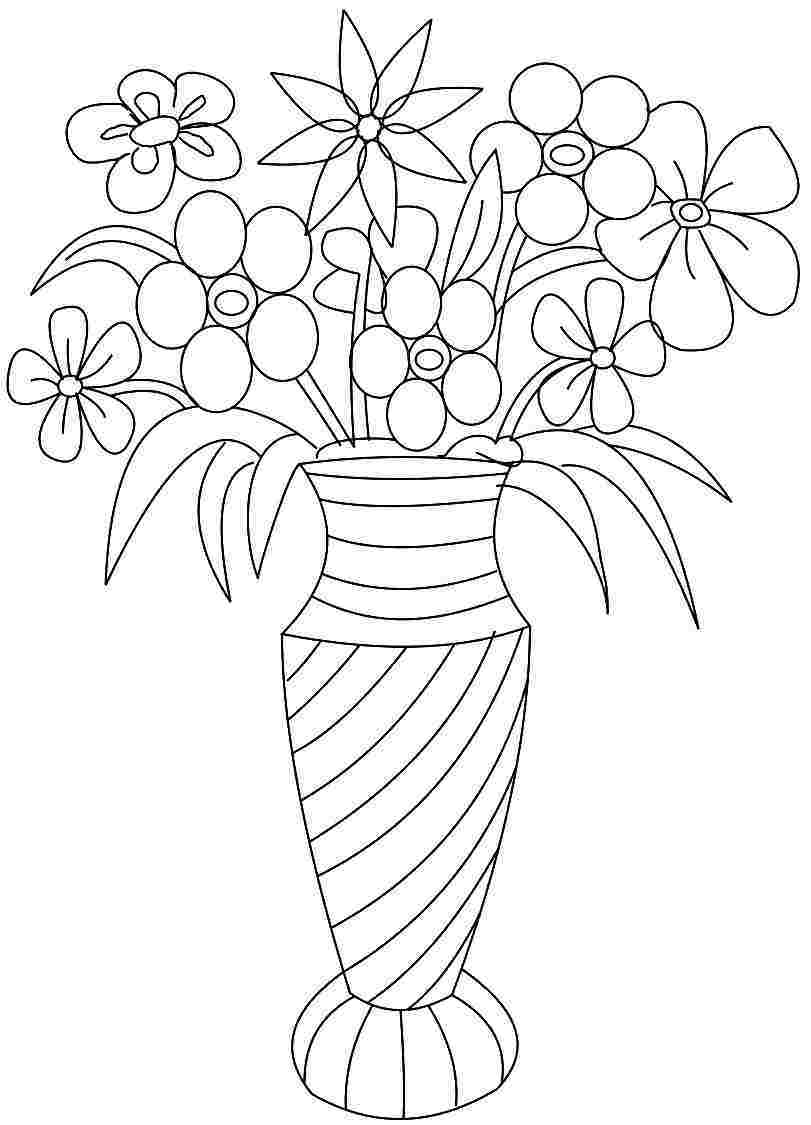 811x1125 Marvelous Vase And Coloring Page Many Interesting Cliparts Picture