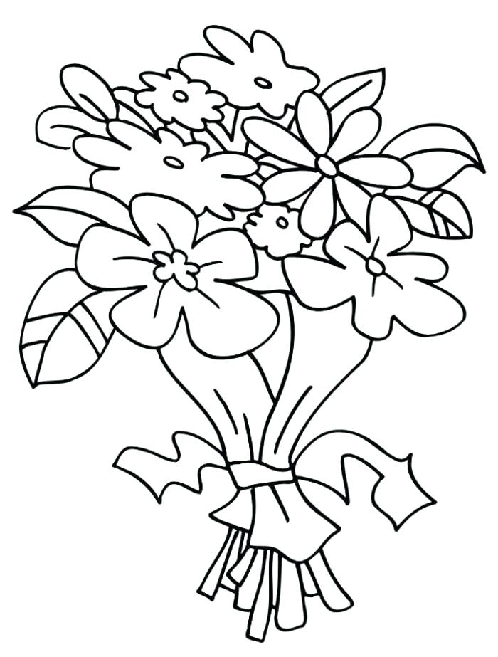 700x923 Poppy Flower Coloring Pages Flower Bouquets Coloring Pages Bouquet