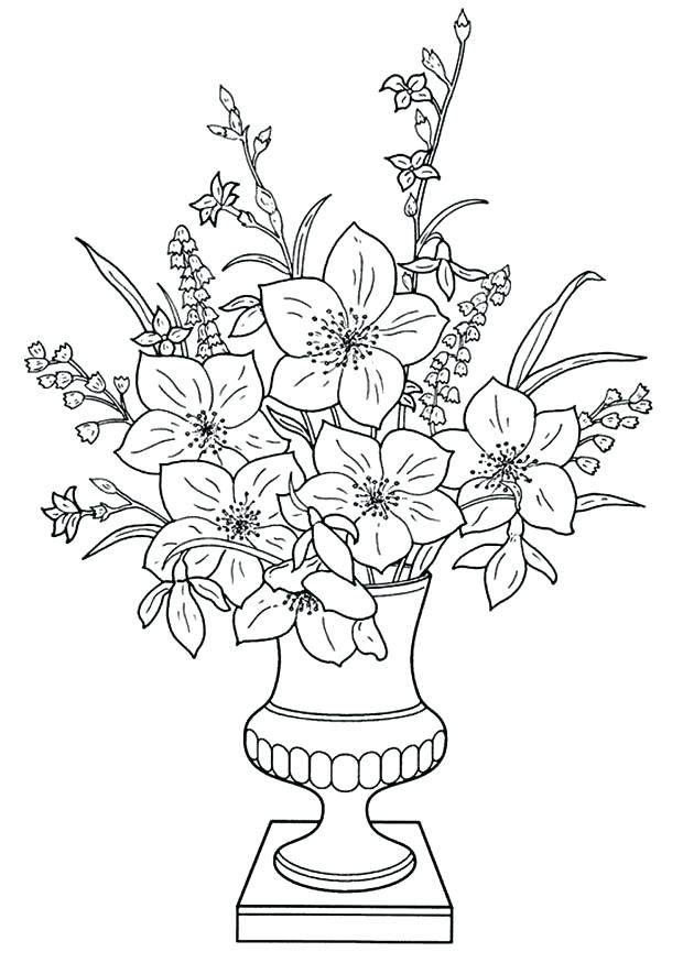 620x875 Coloring Flower Bouquets Coloring Pages Free Printable Of Flowers