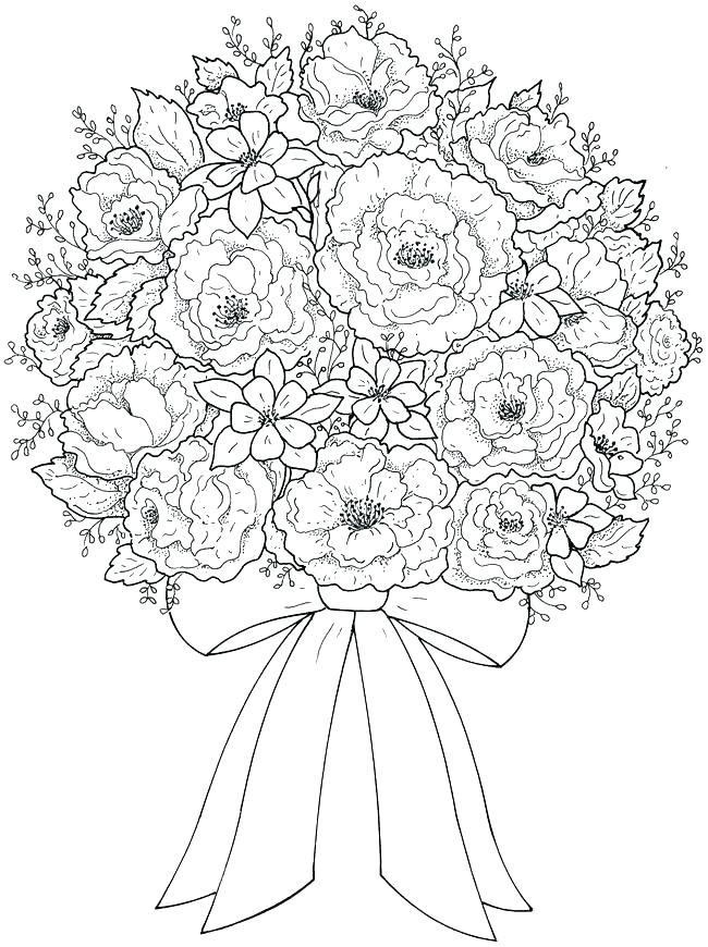 650x870 Beautiful Flowers Coloring Pages Pretty Flower Coloring Pages