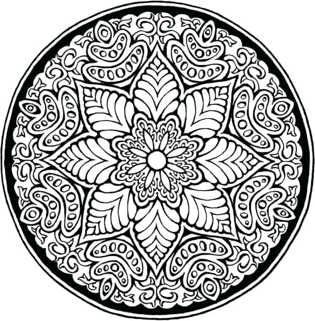 650x662 Difficult Mandala Coloring Pages Mandala Coloring Page Difficult