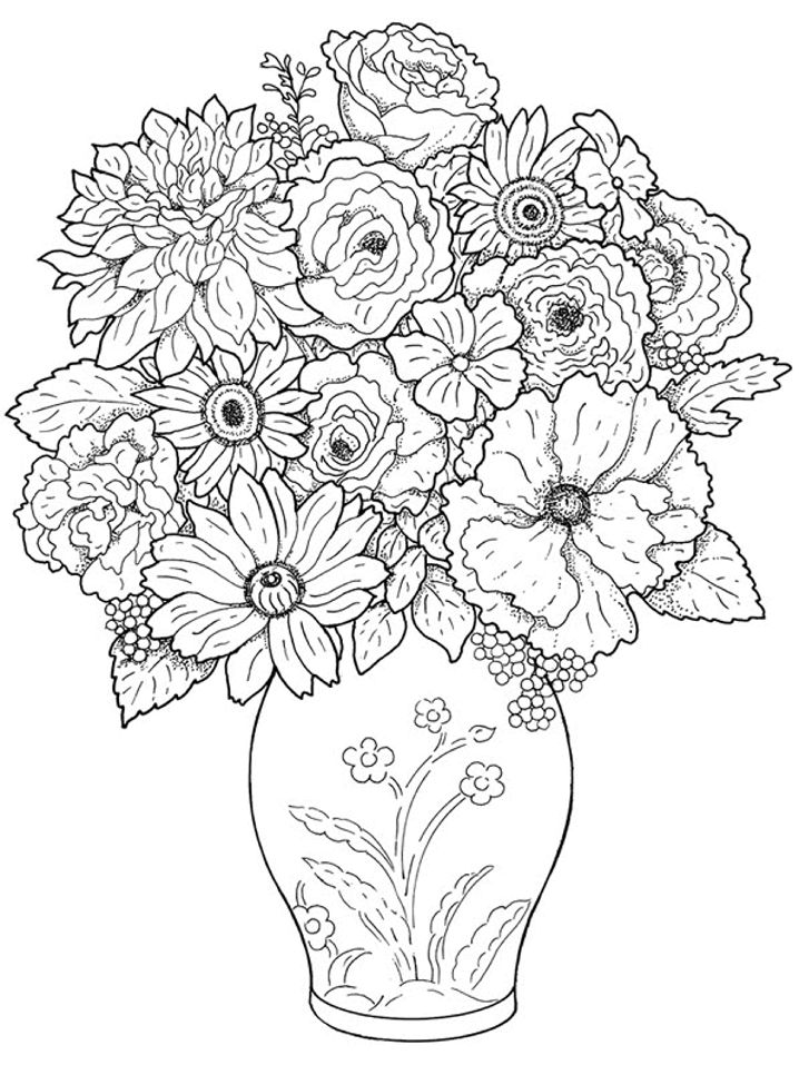 718x957 Best Coloring Pages Flowers Images On Print