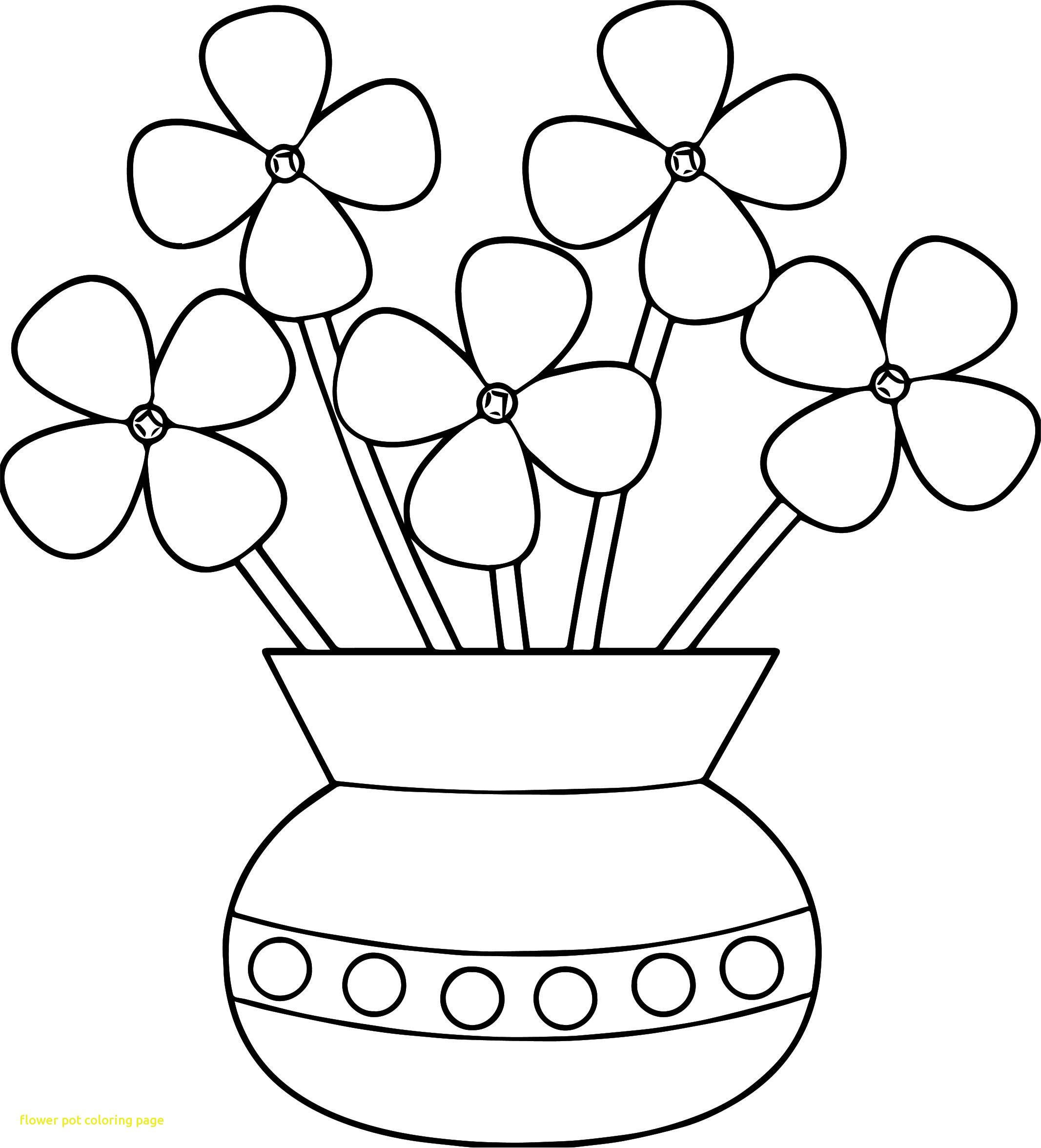 2133x2352 Magnificent Flower Pot Coloring Page Colouring For Funny New Free