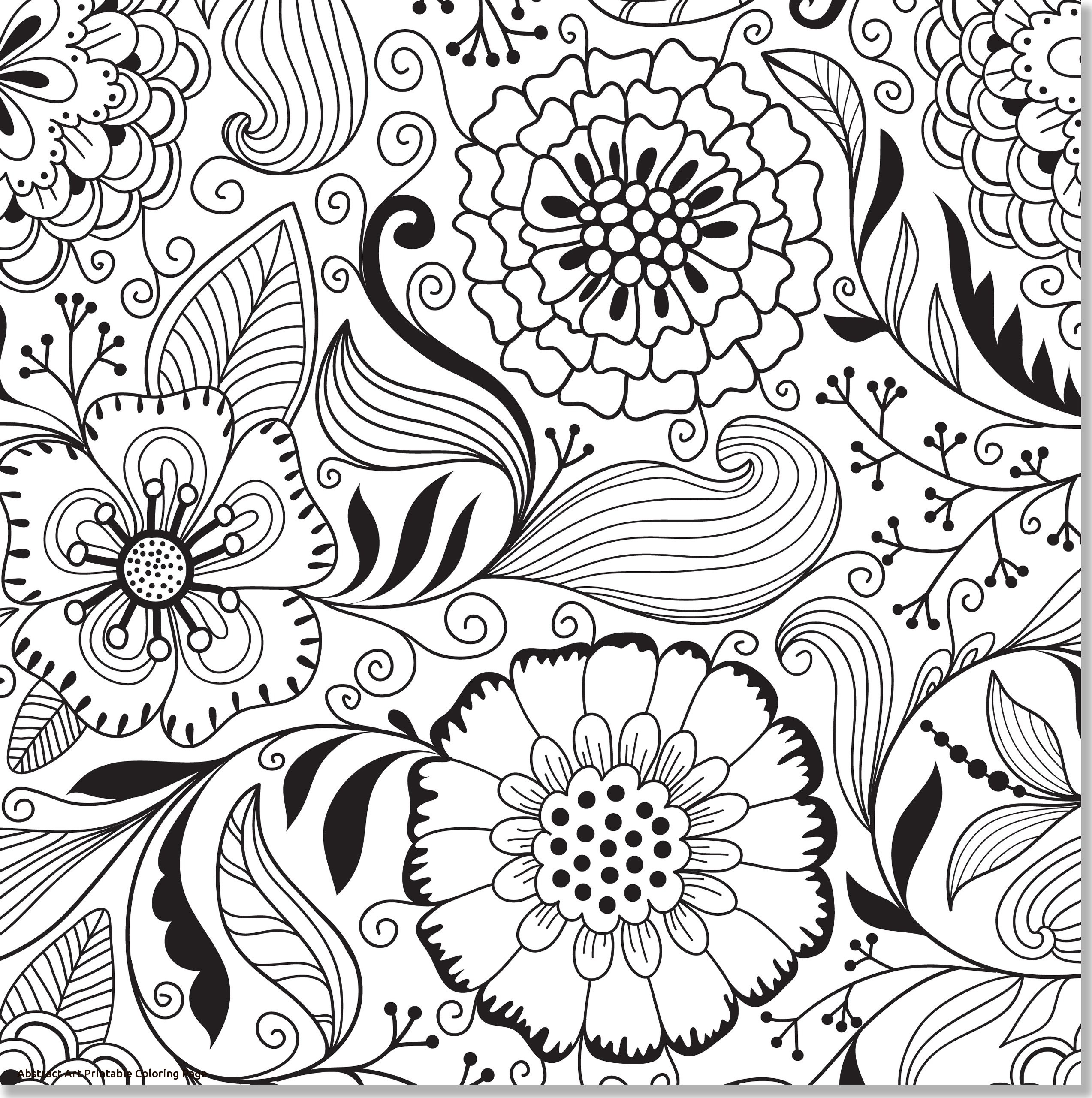 2546x2560 Awesome Printable Abstract Flower Coloring Pages Design