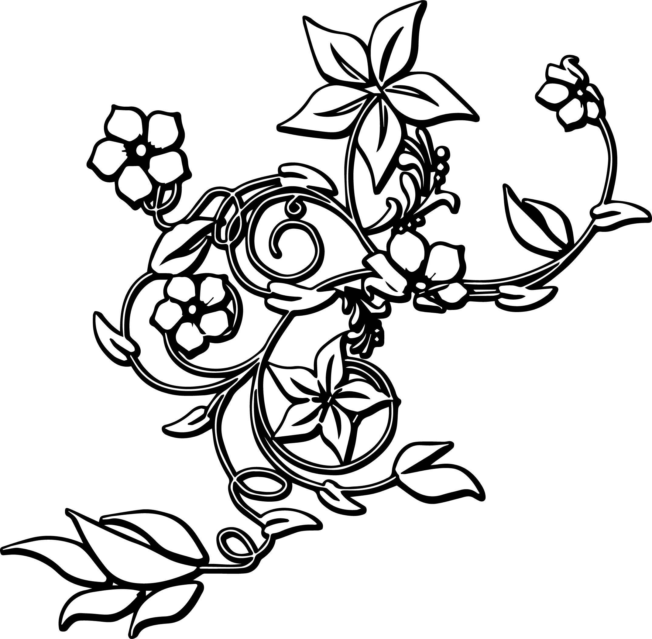 Flower Border Coloring Pages at GetDrawings | Free download