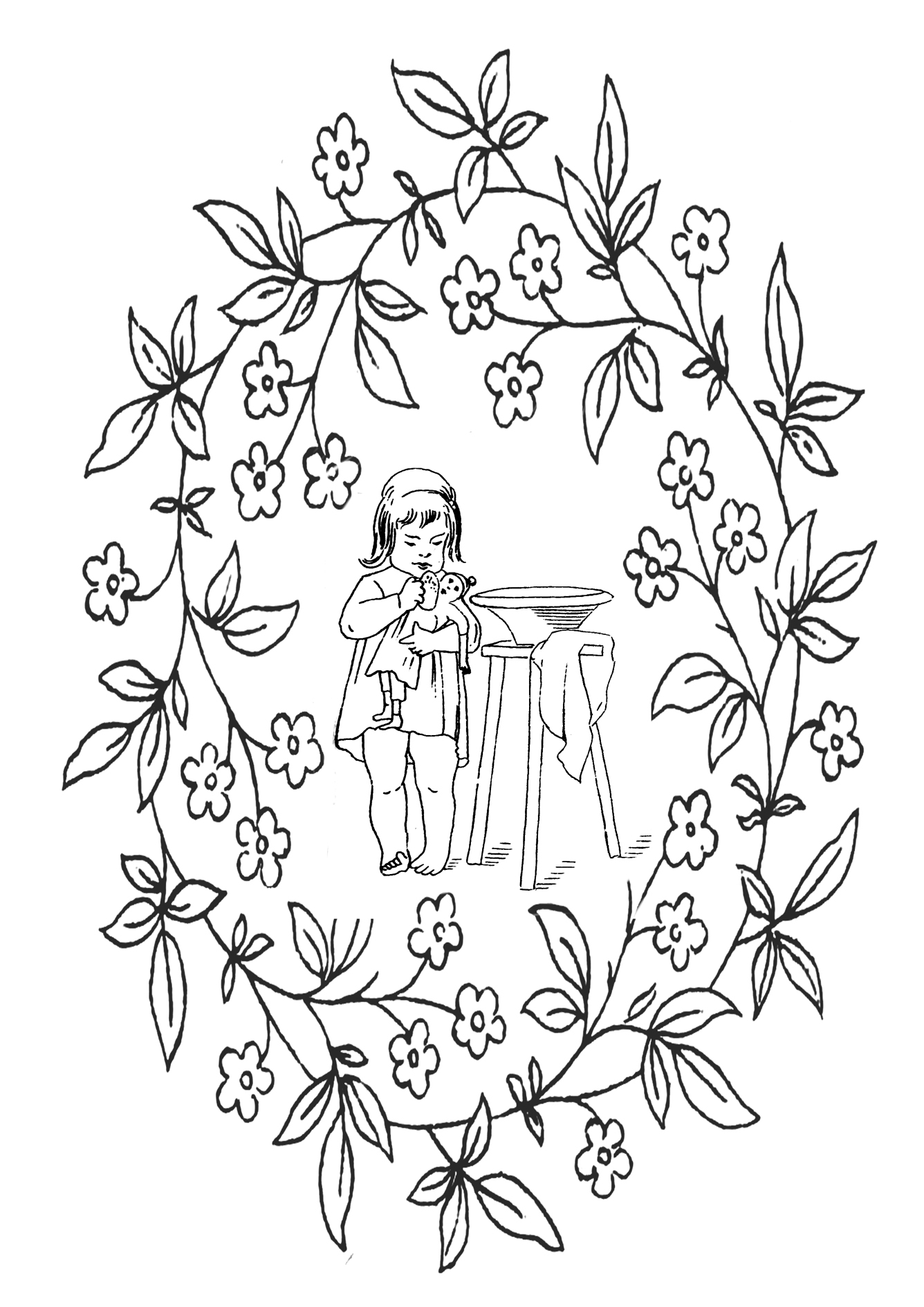 1336x1890 Victorian Printable Coloring Pictures