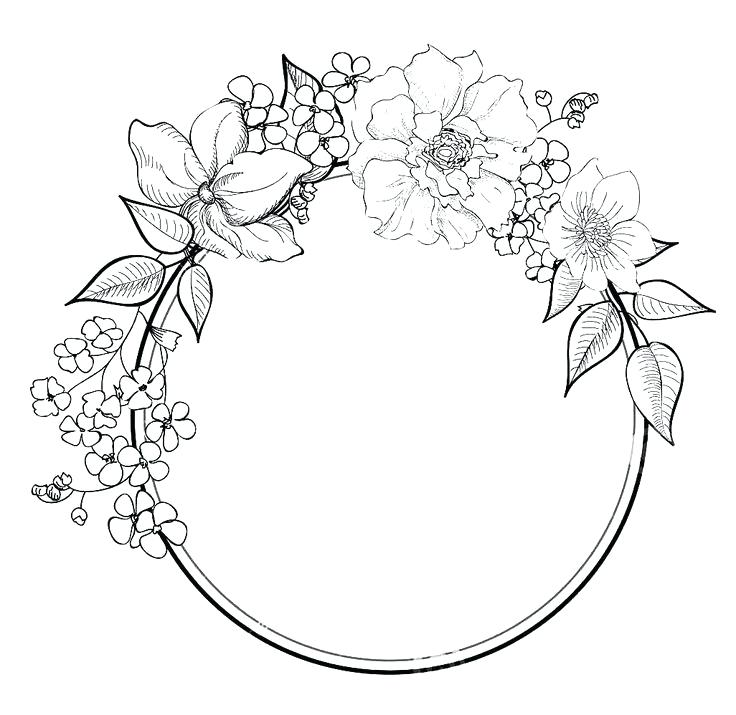 736x715 Wreath Coloring Page Wreath Coloring Page Free Colouring Pages