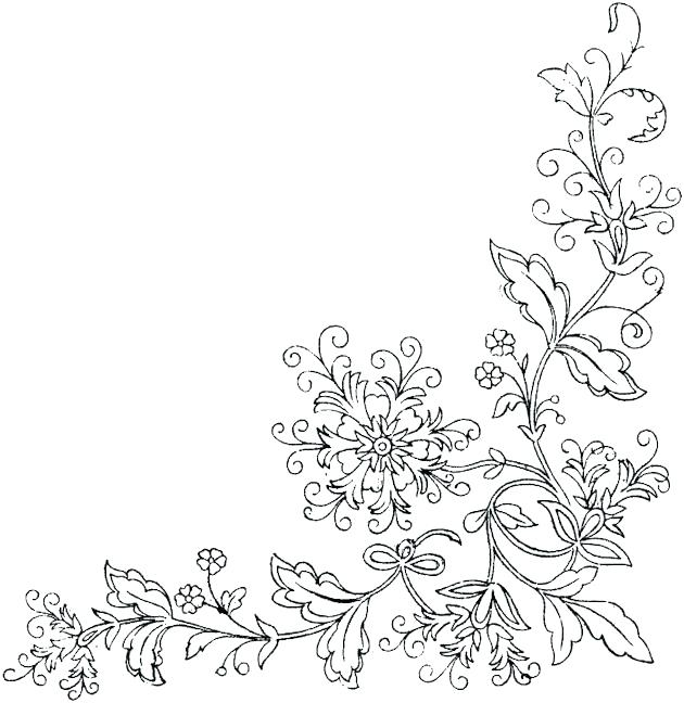 630x648 Border Coloring Pages