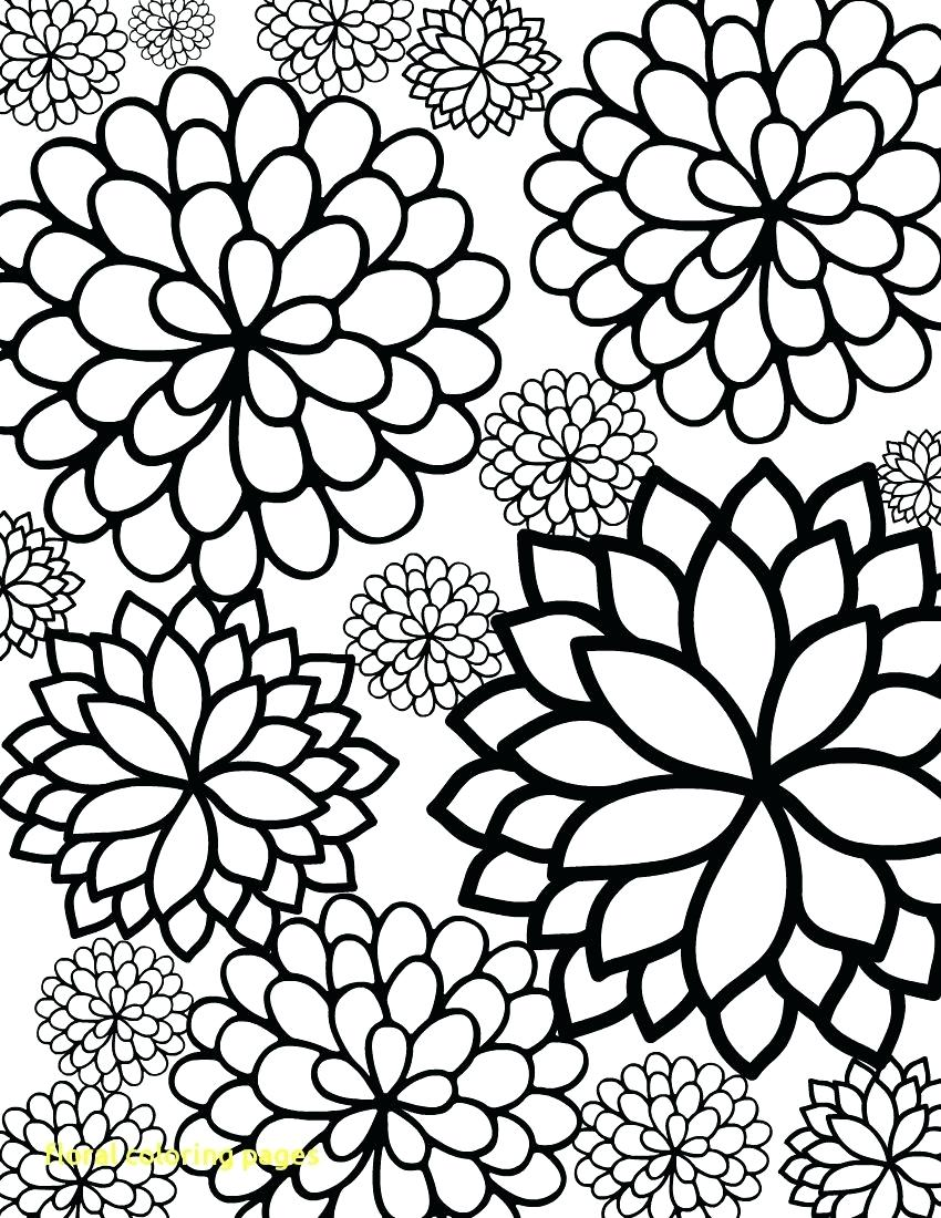 850x1100 Printable Printable Flower Border Black And White Floral Coloring