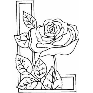 300x300 Rose Coloring Pages