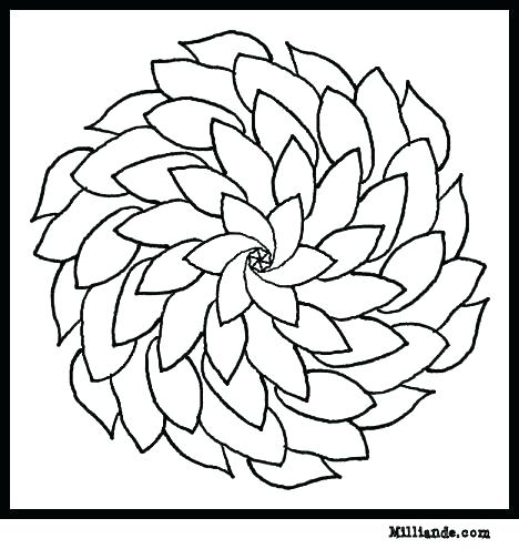 468x495 Color Page Flower Easy Flower Coloring Pages Flower Page Printable