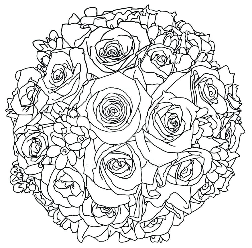 1024x1010 Unique Flower Bouquet Coloring Pages Gallery Printable Coloring