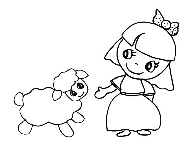 600x464 Coloring Pages Online Flowers Cartoon Of Had A Little Lamb Aliens