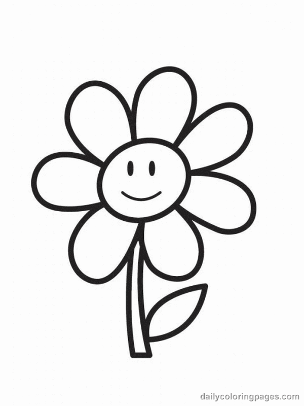 600x800 Cute Flower Coloring Pages