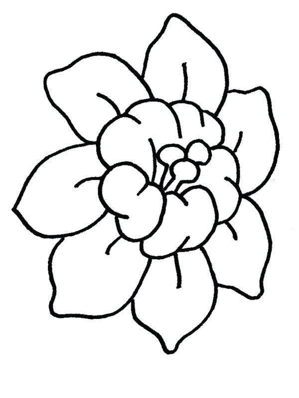 600x800 Easy Flower Coloring Pages Cartoon Daisy Flower Cartoon Flowers