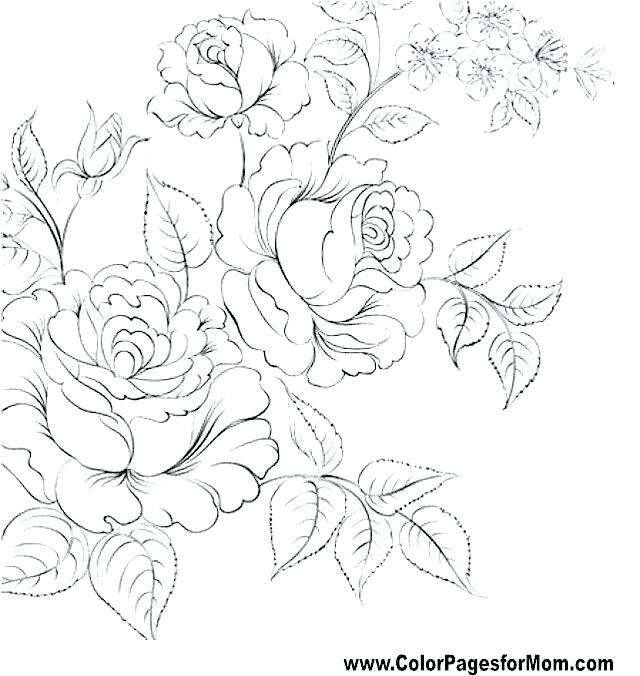 640x676 Flower Coloring Books Popular Trend Coloring Pages