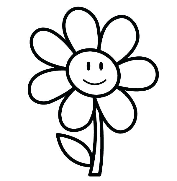 600x613 Free Printable Flower Coloring Pages Free Printable Flowers