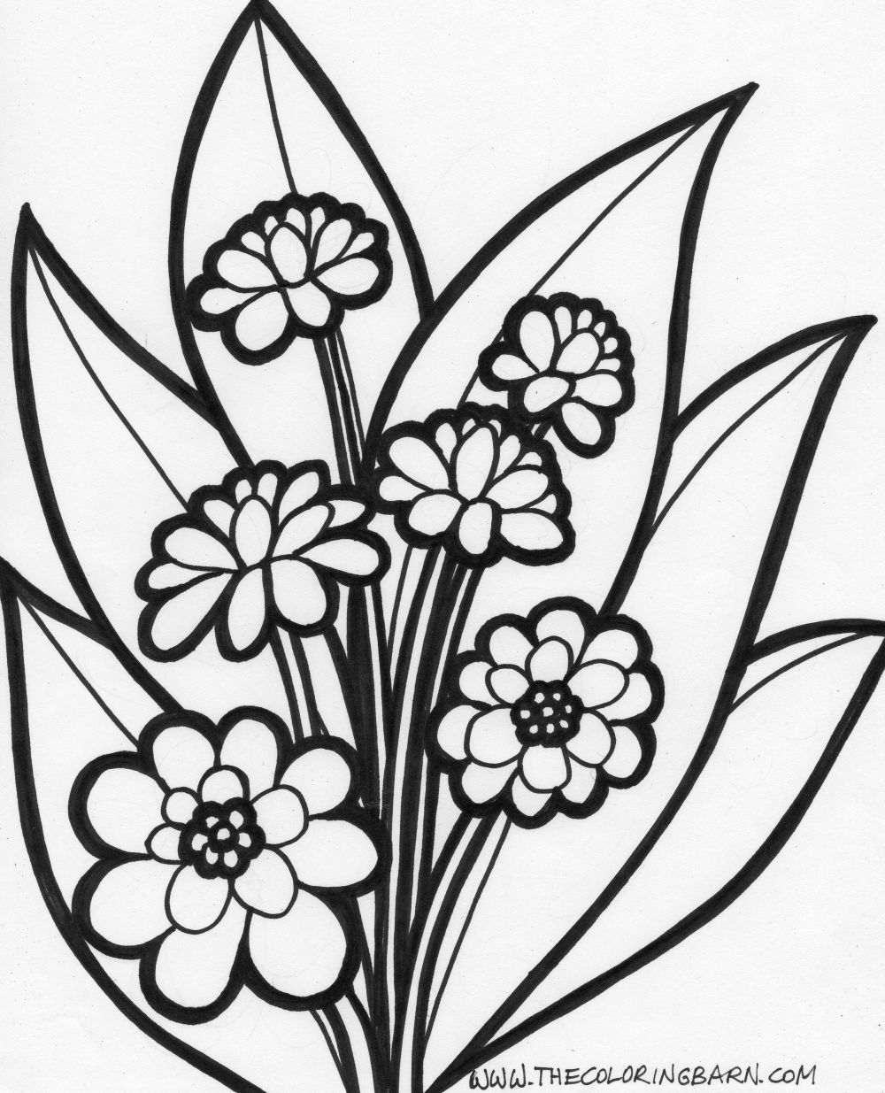 Flower Clip Art Coloring Pages at GetDrawings.com | Free for ...