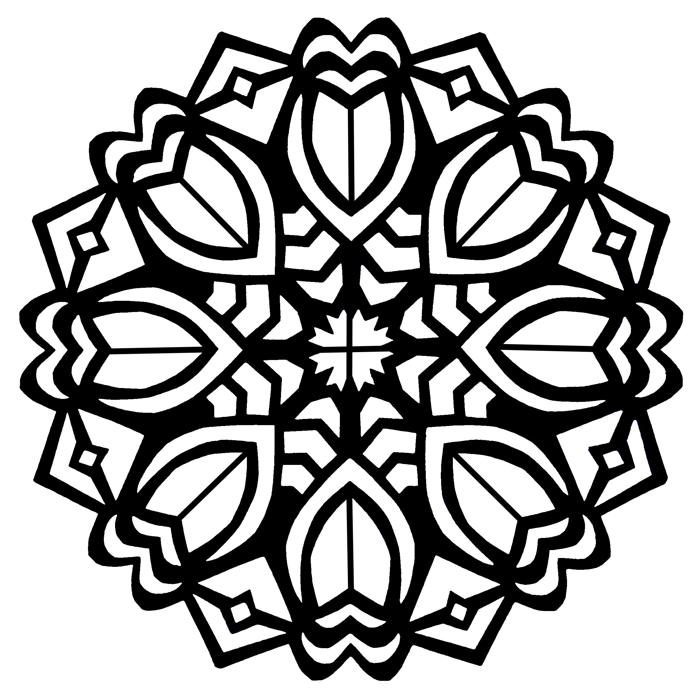 2372x2359 Mandala Art Deco Flowers