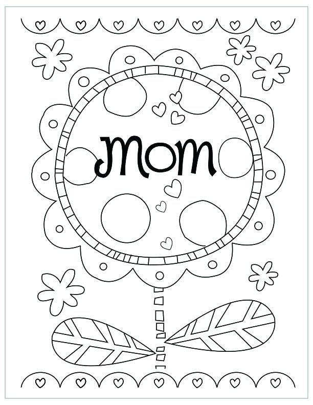 612x792 Mothers Day Clip Art Coloring Pages Mothers Day Free Printable