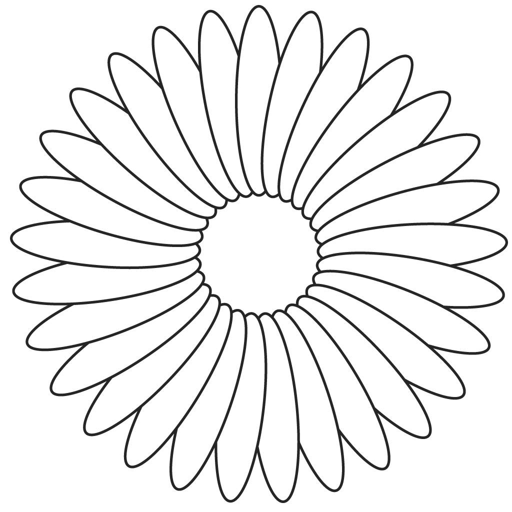 1024x1024 Flower Coloring Pages
