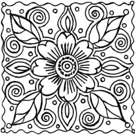 268x268 Flower Coloring Pages For Adults Give The Best Coloring Pages