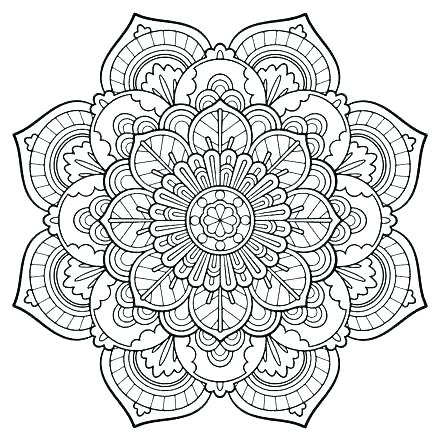 440x440 Advanced Flower Coloring Pages To Print Cute Flower Coloring Pages