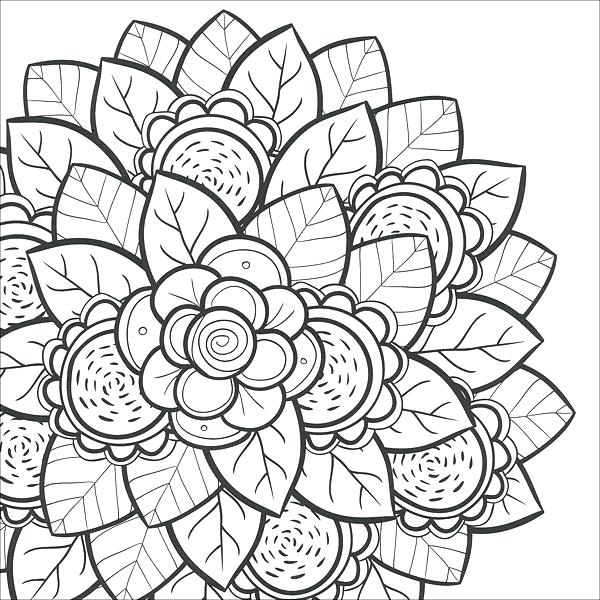 600x600 Teen Coloring Pages Free Flower Coloring Pages For Teens Dibujos