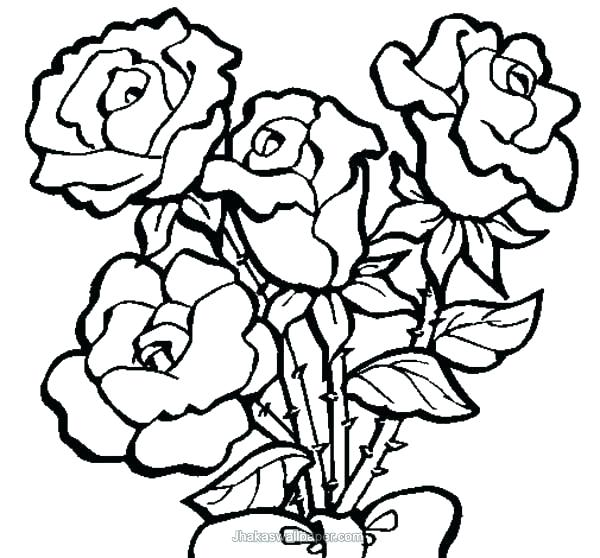600x558 Big Flower Coloring Pages Coloring Pages Of Roses And Flowers