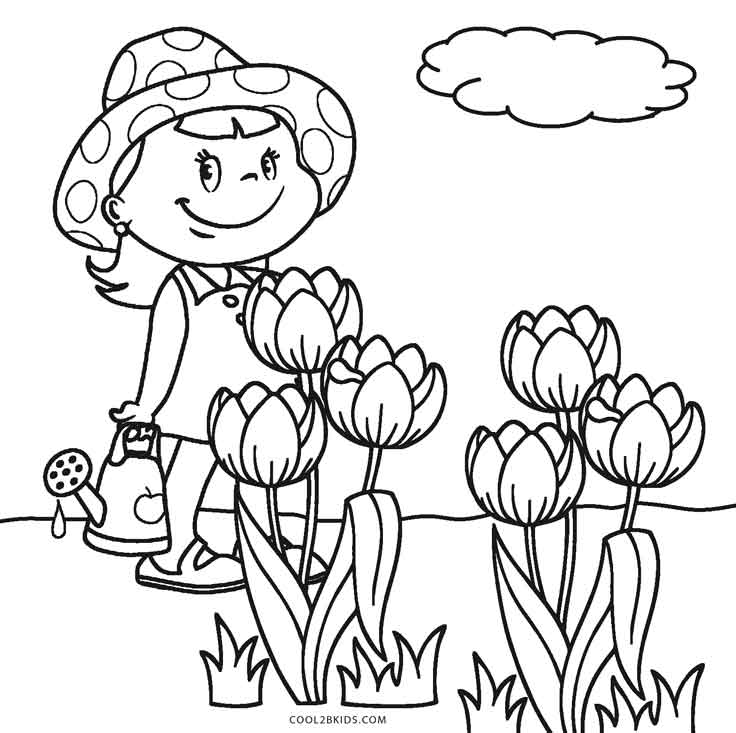 736x733 Free Printable Flower Coloring Pages For Kids