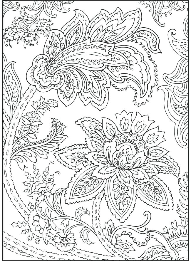 650x892 Printable Flower Coloring Pages For Adults Coloring Pages Adult