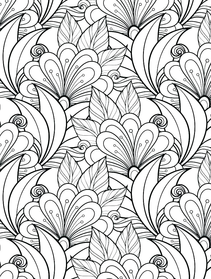 736x971 Free Printable Coloring Pages Of Flowers For Adults