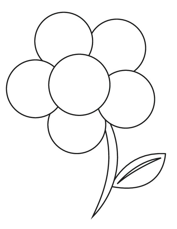 612x792 Flower Coloring Pages For Preschoolers Flower Adult Coloring Pages