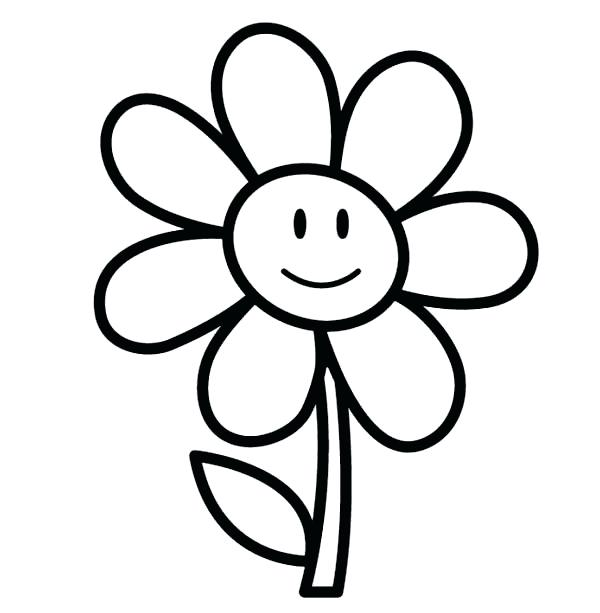 600x613 Flower Coloring Pages For Preschoolers Flower Coloring Pages