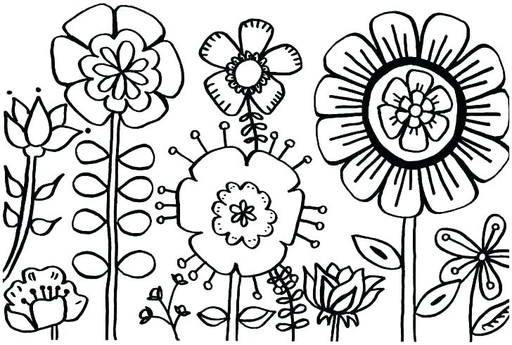 728x490 Flowers Coloring Page Summer Flowers Coloring Pages Printable