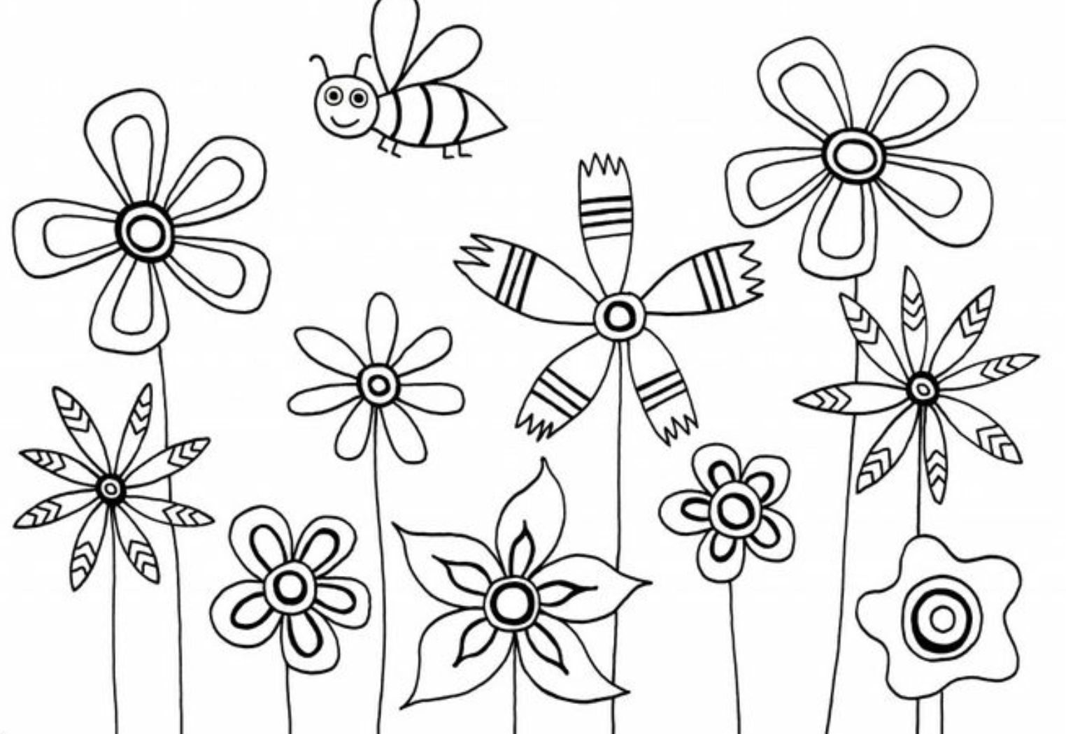 1524x1050 Free Flowerng Pages For Preschoolers Adults Spring Crayola Fairy
