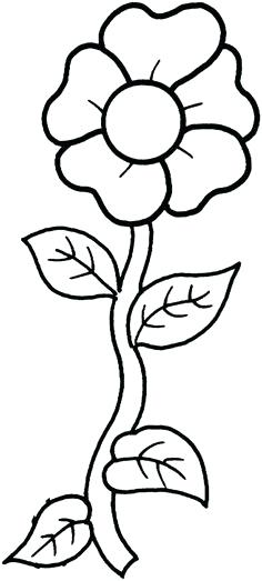 236x523 Free Printable Flower Coloring Pages Coloring Pages Of Flowers