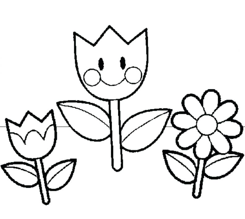 792x708 Preschool Coloring Pages Flowers Free Printable Coloring Pages