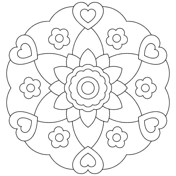 615x615 Coloring Pages For Girls Flowers Coloring Pages For Girls Flowers