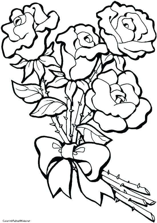 550x780 Coloring Pages Of Flowers And Butterflies Also Printable Coloring