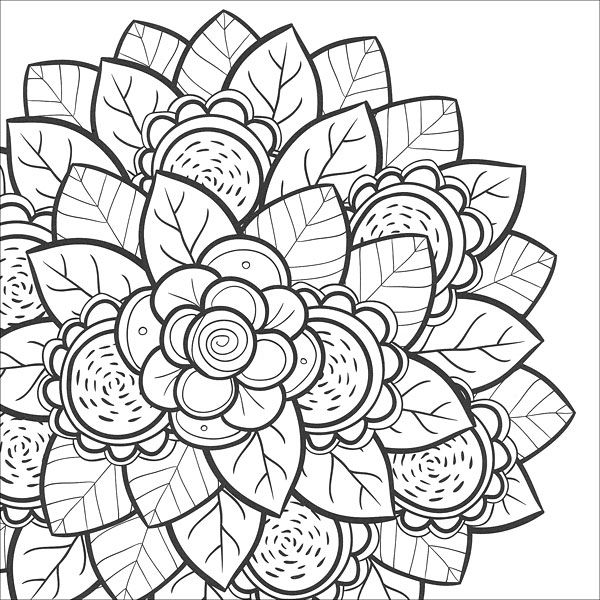 600x600 Coloring Pages For Teens Teen, Flower And Adult Coloring