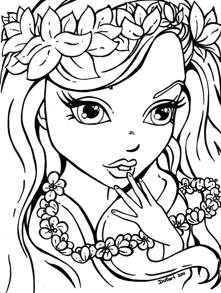 765x1014 Free Coloring Pages For Girls Coloring Pages Girls Flowers