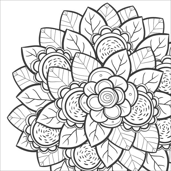 600x600 Free Flower Coloring Pages For Teens Forever Coloring