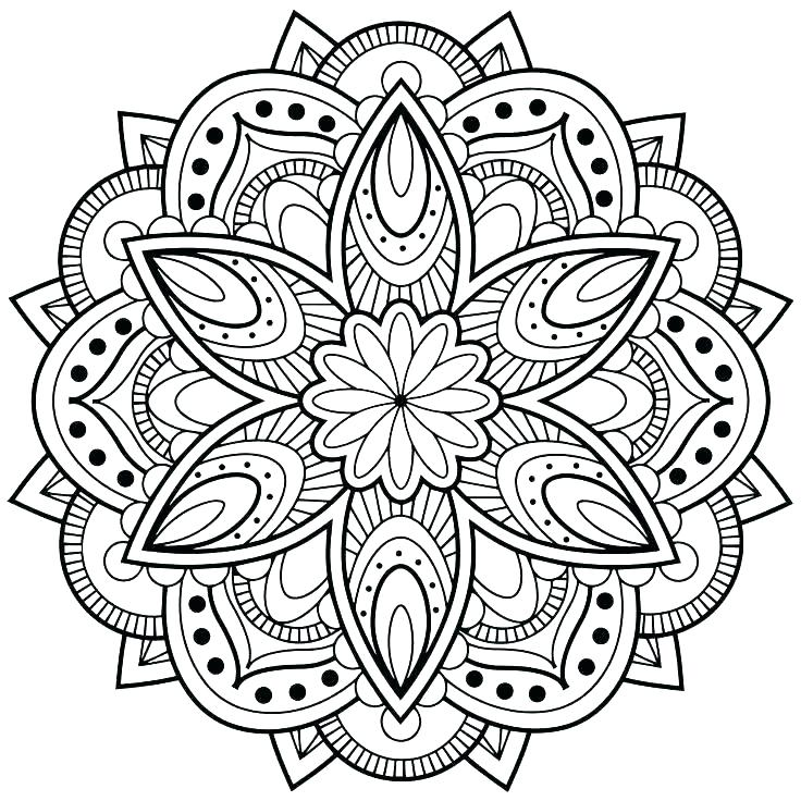 736x736 Printable Coloring Pages For Teens Plus Cool Mandala Coloring